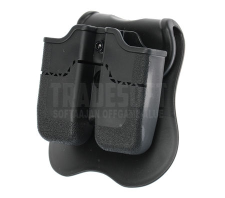 Cytac Hard Double Magazine Pouch for Two Pistol Mags, Universal Model