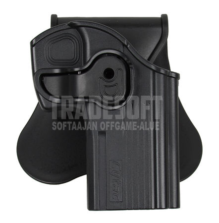 Cytac Hard Adjustable Holster with Paddle Platform for Taurus PT24/7 and PT24/7-OSS