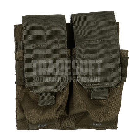 Mil-Tec Double Magazine Pouch for Four M4/M16 Mags, OD