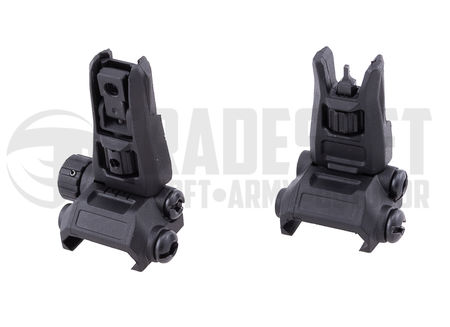 D-Day Tactical Front and Rear Sight, Black (Modular Back-Up Sight Pro)