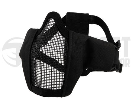 Emerson Padded Metal Mesh Lower Face Mask, Black