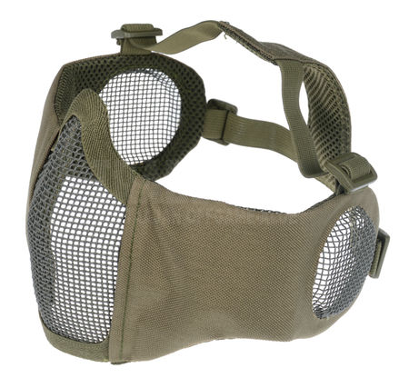 Emerson Padded Metal Mesh Lower Face Mask with Ear Protection, OD