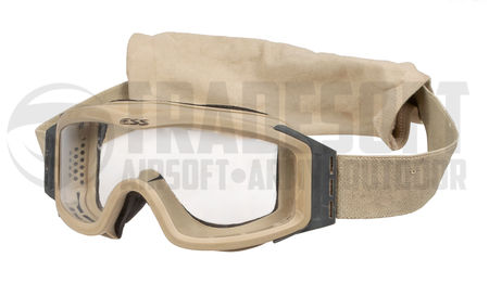 ESS Profile NVG Safety Goggles with Clear and Dark Lenses, Tan or Black, Used