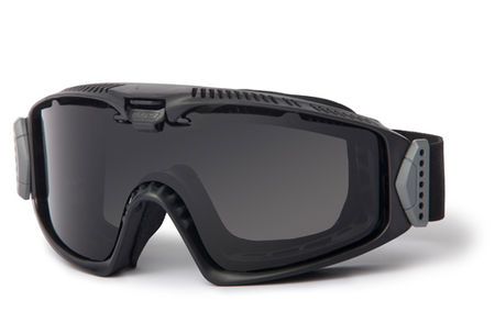 ESS Influx Safety Goggles with Clear and Dark Lenses, Black