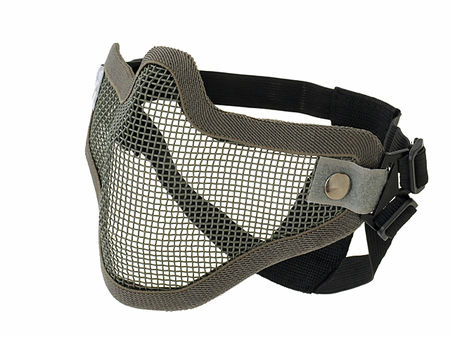 CS Defender Metal Mesh Lower Face Mask, Grey