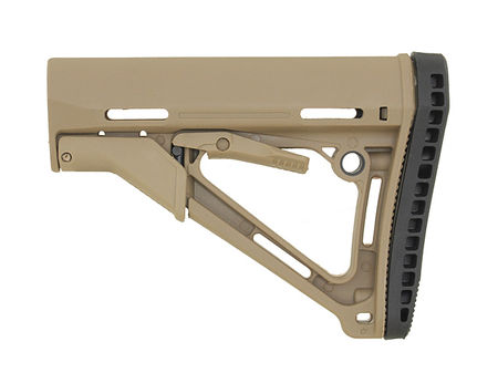 CS Collapsible Stock with Friction Lock, Coyote Brown (Compact/Type Restricted)