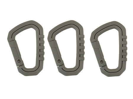 FMA Nylon Carabiner, Foliage (3 pieces)