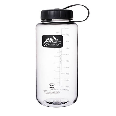 Helikon Tritan™ Drinking Bottle 1L with Wide Mouth, Clear
