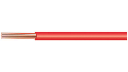 Kabeltronik Red Electric Wire 1.00 mm² (17AWG), 1 Meter