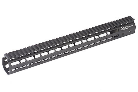 ARES Octarms Aluminum KeyMod RAS Rail for M4/M16 Series, Black (15 Inches)