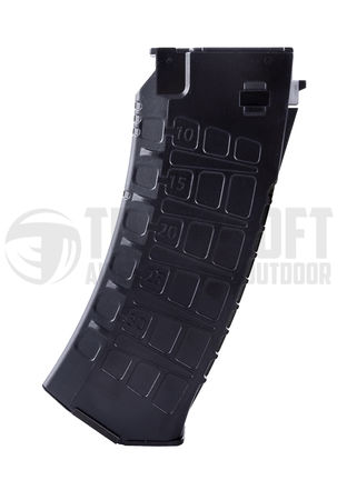 LCT AK-12 Mid-Cap Magazine for AK series, Black (130 Rounds)