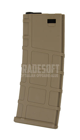 Lonex Polymer Mid-Cap Magazine for M4/M16 Series, Tan (200 Rounds)
