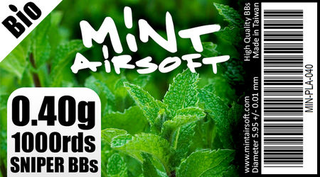 Mint Airsoft 0.40g Sniper Biodegradable BBs 1000 Rounds, White