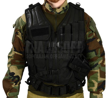 Mil-Tec Cross Draw Vest, Black