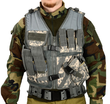 Mil-Tec Cross Draw Vest, UCP