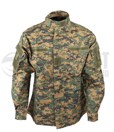 Mil-Tec ACU Ripstop Military Uniform Jacket, Digital Woodland