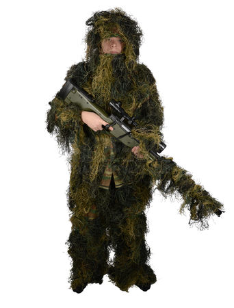 Mil-Tec Ghillie Suit 4-Piece, M/L, Woodland
