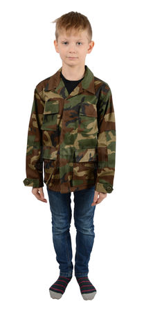 Mil-Tec Kids BDU Ripstop Military Uniform Jacket, Woodland