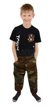 Mil-Tec Kids BDU Ripstop Military Uniform Pants, Woodland