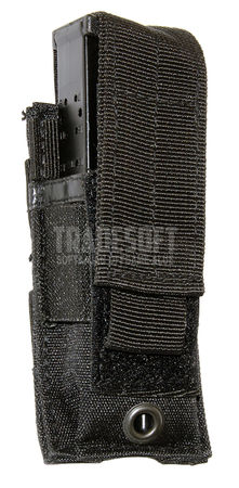 Mil-Tec Single Magazine Pouch for One Pistol Mag, Black