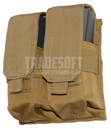 Mil-Tec Double Magazine Pouch for Four M4/M16 Mags, Tan