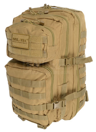 Mil-Tec US Assault Pack LG Backpack, Coyote Brown