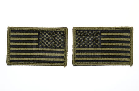 Mil-Tec USA Flag Patch, OD (One Pair)