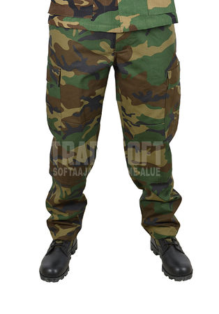 Mil-Tec BDU Ripstop Military Uniform Pants, Woodland