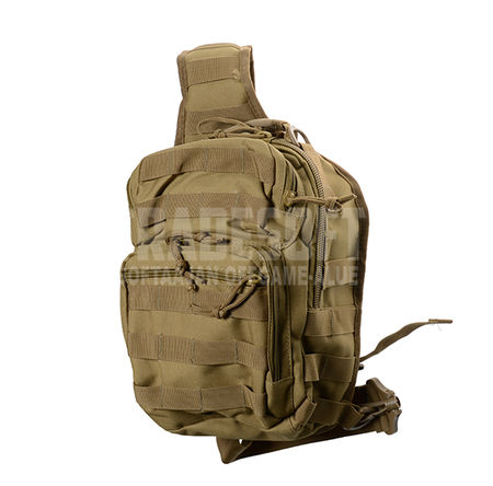 Mil-Tec Sling Bag Small - One Shoulder Backpack, Coyote Brown