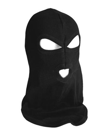 Mil-Tec Three Hole Balaclava, Black