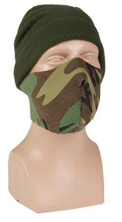 Mil-Tec Neoprene Lower Face Mask, Black/Woodland