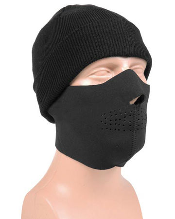 Mil-Tec Neoprene Lower Face Mask, Black