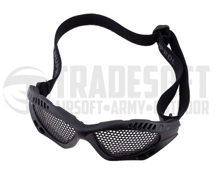 Nuprol Shades Reinforced Metal Mesh Goggles, Black