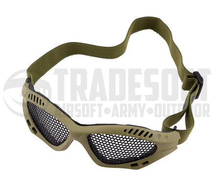 Nuprol Shades Reinforced Metal Mesh Goggles, Green
