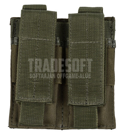 Mil-Tec Double Magazine Pouch for Two Pistol Mags, OD