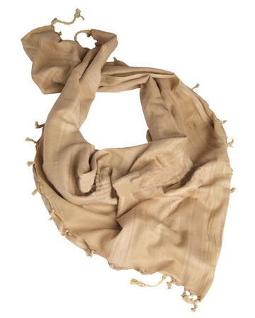 Mil-Tec Shemagh Scarf 110x110cm, Coyote Brown