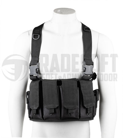 Mil-Tec Mag Carrier Chest Rig, Black