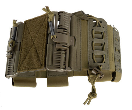 Templar's Gear Elastic Cummerbund with Pouches and PALS Matrices, ROC Attachment, Ranger Green