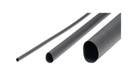 Tradesoft Heat Shrink Tubing 3.2 mm, Black, Half a Meter (0.5 m)