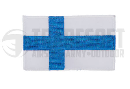 Tradesoft Finnish Flag Patch, Large, Blue and White