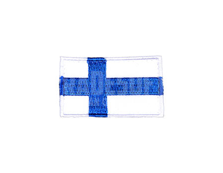 Tradesoft Finnish Flag Patch, Small, Blue and White