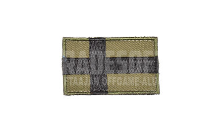 Tradesoft Finnish Flag Patch, Small, OD