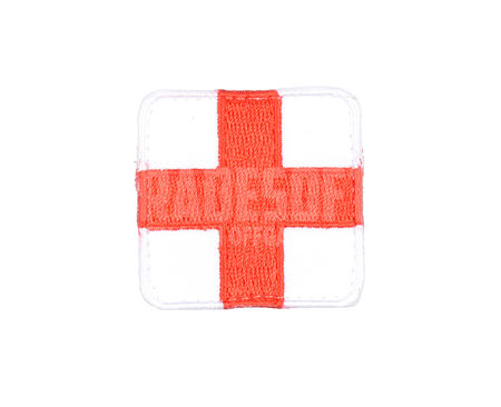 Tradesoft Medic/EMT Patch, Red and White