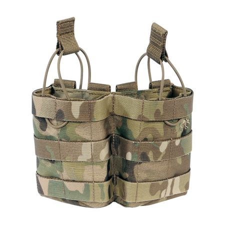 Tasmanian Tiger Open-Top Double Magazine Pouch for Two M4/M16 Mags, Multicam