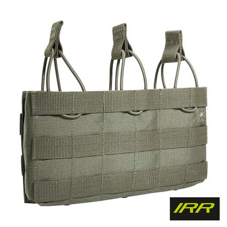 Tasmanian Tiger Open-Top Triple Magazine Pouch for Three Rifle Mags MKII, Stone Grey Olive IRR