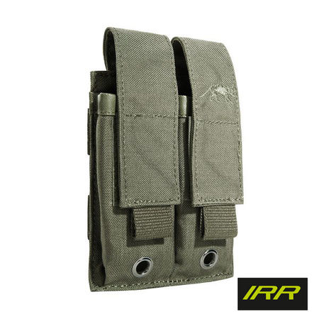Tasmanian Tiger Double Magazine Pouch for Two Pistol Mags, Stone Grey Olive IRR