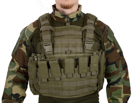 Tasmanian Tiger Chest Rig MkII with M4/M16 Magazine Pouches, OD
