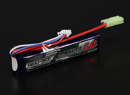 Turnigy Nano-tech 11.1V 1000mAh (20/40C) LiPo Stick Type Battery, Tamiya Mini Connector