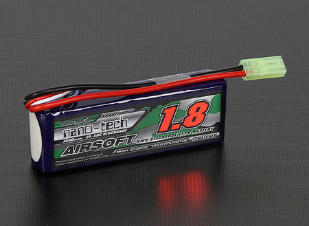 Turnigy Nano-tech 11.1V 1800mAh (25/50C) LiPo Mini Type Battery, Tamiya Mini Connector