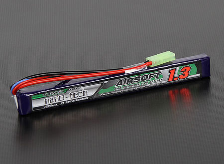 Turnigy Nano-tech 7.4V 1300mAh (25/50C) LiPo Stick Type Battery, Tamiya Mini Connector